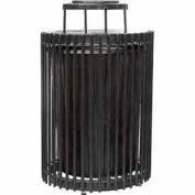 32 Gallon Steel Rod Receptacle - Black