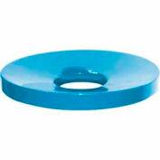 32 Gallon Concave Metal Lid - Blue