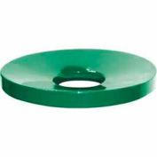 32 Gallon Concave Metal Lid - Green