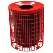 32 Gallon Wire Receptacle - Red