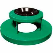 32 Gallon Ash Bonnet Lid With Ashtray - Green