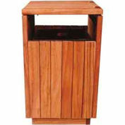 40 Gallon Square Wooden Receptacle