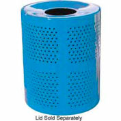 32 Gallon Perforated Receptacle - Blue