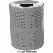 32 Gallon Perforated Receptacle - Gray