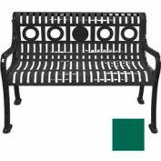 4' Ring Pattern Bench - Green