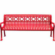 6' Ring Pattern Bench - Red