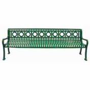 8' Ring Pattern Bench - Green