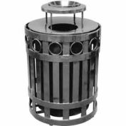 32 Gallon Ring Receptacle With Ash Bonnet - Gray