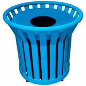 22 Gallon Welded Receptacle With Metal Lid - Blue