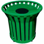 22 Gallon Welded Receptacle With Metal Lid - Green