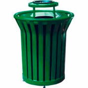32 Gallon Welded Receptacle With Ash Bonnet - Green
