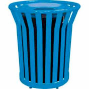 32 Gallon Welded Receptacle With Metal Lid - Blue