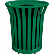 32 Gallon Welded Receptacle With Metal Lid - Green