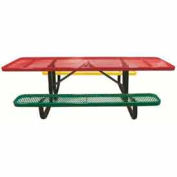 8' Child's Picnic Table, Expanded Metal, Portable Mount, 6' Seats, Multi Colors