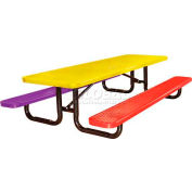 8' Child's Picnic Table, Expanded Metal, Portable Mount, Multi Colors