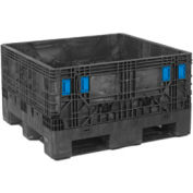 "ORBIS BulkPak HDMC4845-27 Containers, 48""L x 44-1/2""W x 26-1/2""H, 1800 Lbs. Capacity Black"