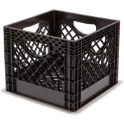"Dairy Milk Crate, 13""L X 13""W X 11""H, Black - Pkg Qty 10"