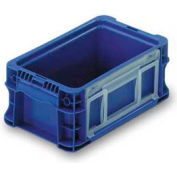 "ORBIS Stakpak NSO1207-5 Modular Straight Wall Container, 12""L x 7-13/32""W x 5""H, Blue"