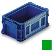 "ORBIS Stakpak NSO1207-5 Modular Straight Wall Container, 12""L x 7-13/32""W x 5""H, Green"