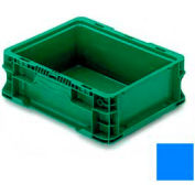 """ORBIS Stakpak NXO1215-5 Modular Straight Wall Container, 12""""L x 15""""W x 5""""H, Blue"""