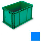 "ORBIS Stakpak NXO2415-14 Modular Straight Wall Container, 24""L x 15""W x 14-1/2""H, Blue"