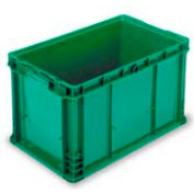 "ORBIS Stakpak NXO2415-14 Modular Straight Wall Container, 24""L x 15""W x 14-1/2""H, Green"