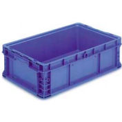 "ORBIS Stakpak NXO2415-7 Modular Straight Wall Container, 24""L x 15""W x 7-1/2""H, Blue"