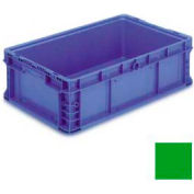 """ORBIS Stakpak NXO2415-7 Modular Straight Wall Container, 24""""L x 15""""W x 7-1/2""""H, Green"""