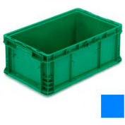 "ORBIS Stakpak NXO2415-9 Modular Straight Wall Container, 24""L x 15""W x 9-1/2""H, Blue"