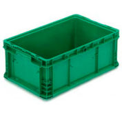 """ORBIS Stakpak NXO2415-9 Modular Straight Wall Container, 24""""L x 15""""W x 9-1/2""""H, Green"""