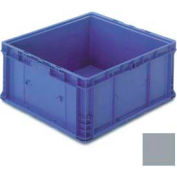 """ORBIS Stakpak NXO2422-11 Modular Straight Wall Container, 24""""L x 22-1/2""""W x 10-29/32""""H, Gray"""