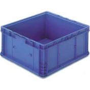 "ORBIS Stakpak NXO2422-14 Modular Straight Wall Container, 24""L x 22-1/2""W x 14-1/2""H, Blue"