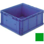 """ORBIS Stakpak NXO2422-14 Modular Straight Wall Container, 24""""L x 22-1/2""""W x 14-1/2""""H, Green"""