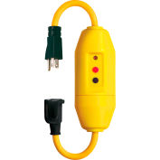 "Lind Equipment 25080-2001 Inline GFCI Cord Set, 120V/20A, 14"" 12/3 Cord, W/Indicator Light"