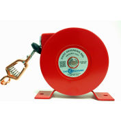 Lind Equipment 700-50R 50' Industrial Reel, Plated Steel Cable, LE-21C Copper Alligator Clip
