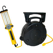 Lind Equipment 8050-DPL 50' 16/3 SJTW Cable Reel, Dpl 26W CFL Work Light With 9A Outlet