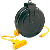 Lind Equipment LE2630B14 30' 14/3 SJT Cable Reel, 13A Triple Outlet