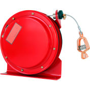 Lind Equipment ML2930-46 50' HD Reel, Clear Coated Cable, LE-21C Copper Alligator Clip., Red Enamel