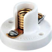 Leviton 10020 Miniature Base, One-Piece, Keyless, Incandescent, Urea Lampholder