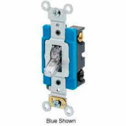 Leviton 1201-Plc 15a, 120v, Illuminated On, Single-Pole Ac Quiet Switch, Clear - Min Qty 14