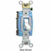 Leviton 1202-2w 15a, 120/277v, Double-Pole Ac Quiet Switch, White - Min Qty 15