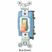 Leviton 1203-Lhw 15a, 120v, Illuminated Off 3-Way Ac Quiet Switch, Extra White - Min Qty 8