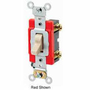 Leviton 1221-2 20A, 120/277V, Single-Pole AC Quiet Switch, Brown