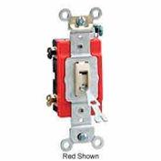 Leviton 1221-2gl 20a, 120/277v, Locking Single-Pole Ac Quiet Switch, Gray - Min Qty 11