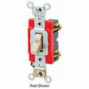 Leviton 1221-2GY 20A, 120/277V, Single-Pole AC Quiet Switch, Gray
