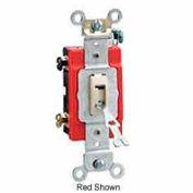 Leviton 1221-2wl Locking Switch, Single Pole, Grounding, Back & Side Wired, White - Min Qty 11