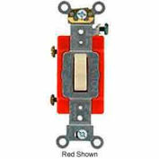 Leviton 1221-7li 20a, 277v, Illuminated Off Single-Pole Ac Quiet Switch, Ivory - Min Qty 7