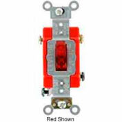 Leviton 1221-7pr 20a, 277v, Neutral Single-Pole Ac Quiet Switch, Red - Min Qty 9