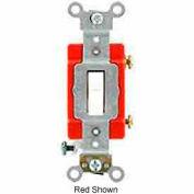 Leviton 1221-Lhw 20a, 120v, Illuminated Off Single-Pole Ac Quiet Switch, White - Min Qty 9