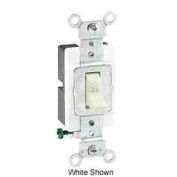 Leviton 1221-St 20a, 120/277v, Single-Pole Ac Quiet Switch, Grounding, Lt Almond - Min Qty 16